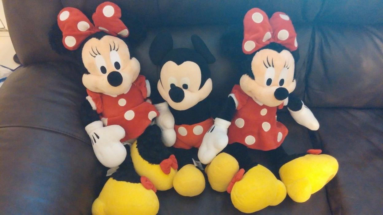 Mickey and Minnie Plush Dolls + Mickey Mouse Clubhouse DVDs
