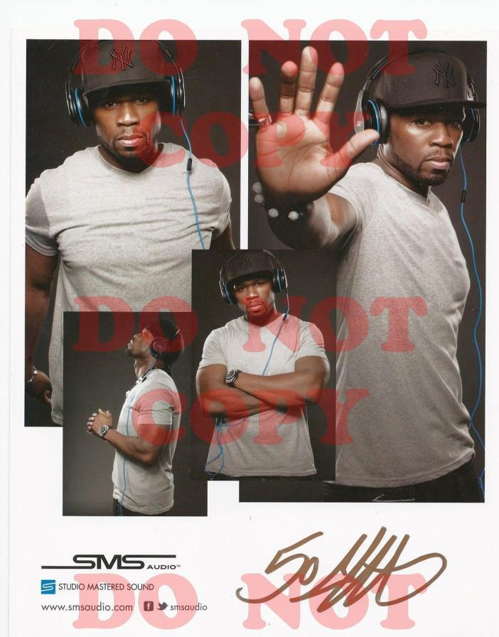 REPRINT RP Signed Autographed 8x10 Color Photo Picture: Fifty Cent 50 Promo Pic
