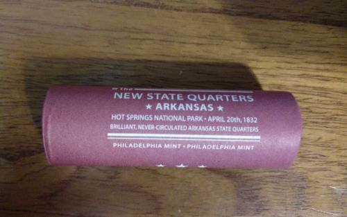 Unopened roll o Arkansas Quarters 2010 uncirculated