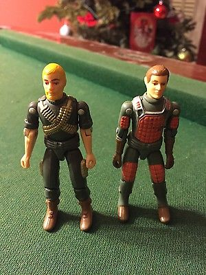 Vintage Original 1982 Hasbro G I Joe Flash & Rock N Roll Action Figures