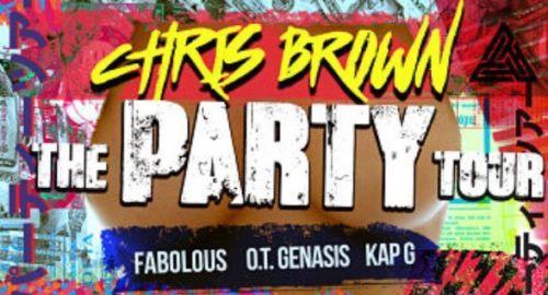 2 TIX CHRIS BROWN THE PARTY TOUR 4/16 AMALIE ARENA TAMPA FL SEC 116, ROW N