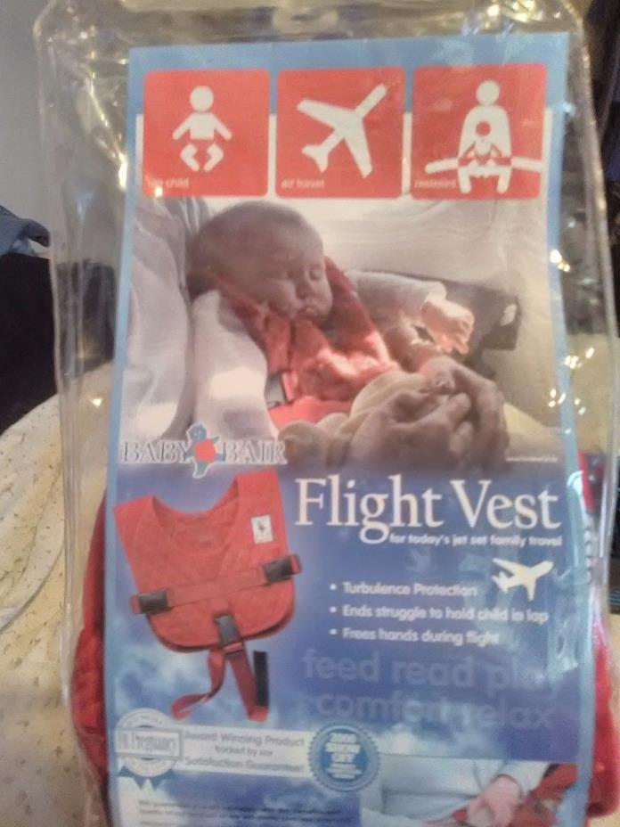 Baby B'Air AIRLINE FLIGHT VEST Airplane SAFETY Seat Belt FAA Harness Toddler