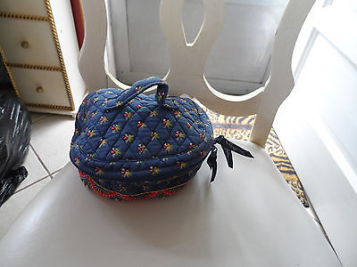 Vera Bradley Home and away round cosmetic bag in retired Emily pattern