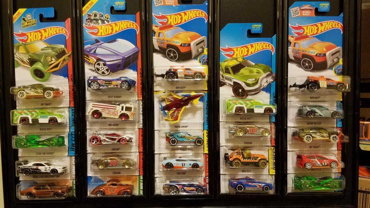 Hot Wheels Lot 24 Different Treasure Hunt Dodge Chevy Cloak Fish Jeep Mustang