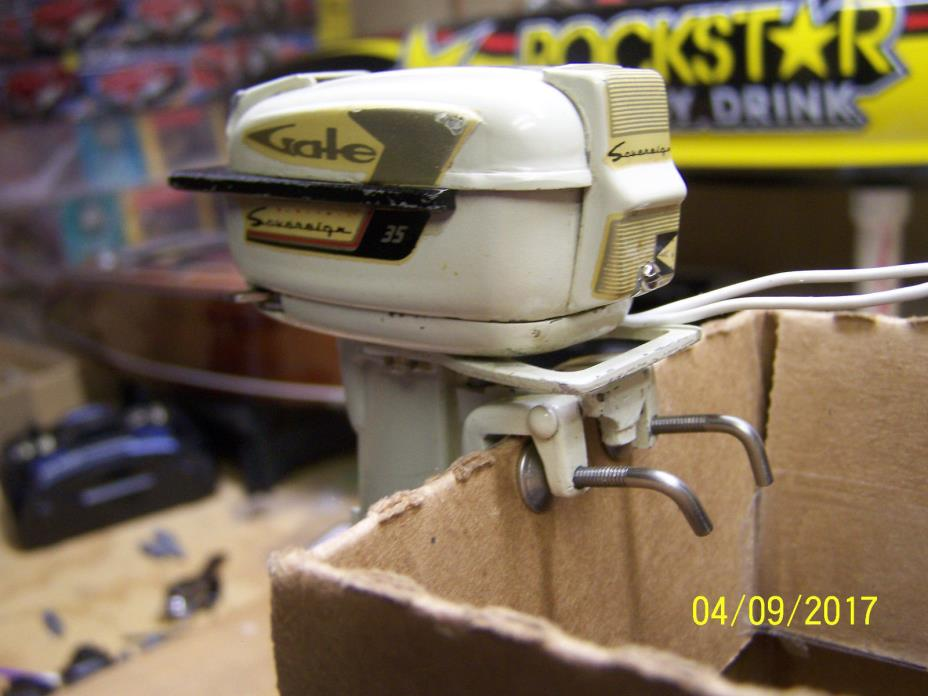 FLEET LINE 1959 GALE SOVEREIGN 35 HP TOY OUTBOARD MOTOR SHIP / INSUR INCLUDED