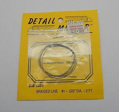 Detail Master DM1301 Braided Line #1 .020 Dia. 2 ft.R13074