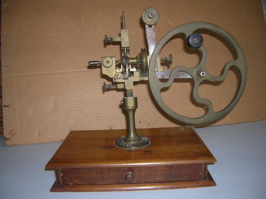 ANTIQUE WATCHMAKERS ROUNDING UP  GEAR CUTTING LATHE