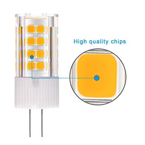 KINDEEP G4 LED Bulb, Bi-pin base, 40W Equivalent, Warm White 3000K, 5-Pack