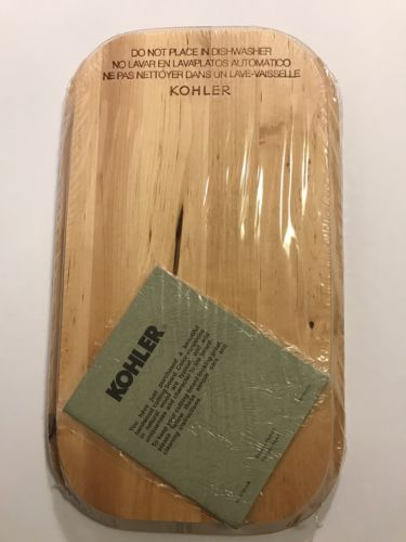New KOHLER Natural Hardwood Cutting Chopping Board Staccato Sink K-3369 #1051919