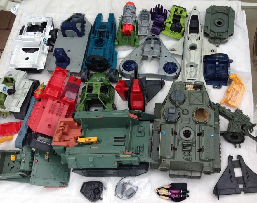Vintage GI Joe Hasbro vehicle lot part piece junk yard 1980's action figure toys