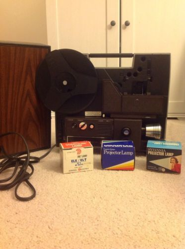 Sears 837.92400 Cassette Du-all Auto 8 Movie Projector 8mm Case Rewind Wheel