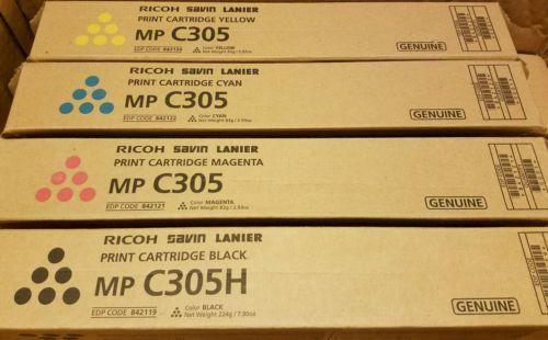 Full Set of Ricoh MP C305 Toner**BK/C/M/Y