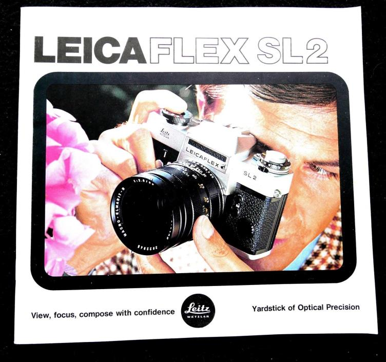 VINTAGE LEICAFLEX SL2 BOOKLET NOVEMBER 1974 ENGLISH