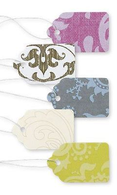 Lot of 500 New Retails Colorful Damask Print Paper Price Tags 1 1/16