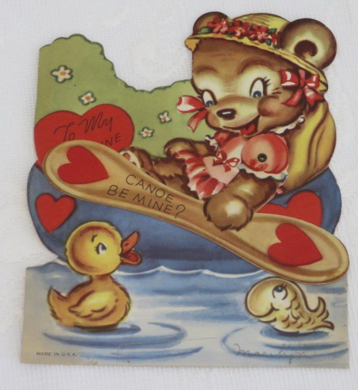 Mechanical Vintage Valentine, Canoe