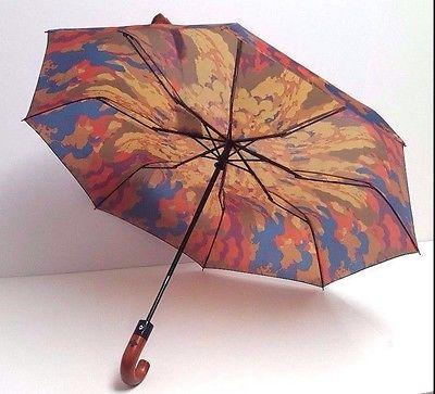 Patricia Nash Magliano Heritage Retractable Umbrella (Parisian Camo)