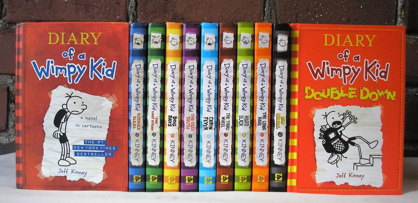 Complete Diary of a Wimpy Kid Series Lot 11 Jeff Kinney HC RL5 RL6 AR