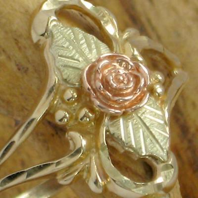 Ring 10k Band 12k Leaves Womens Wheeler Dakota Gold Jewelry KR645