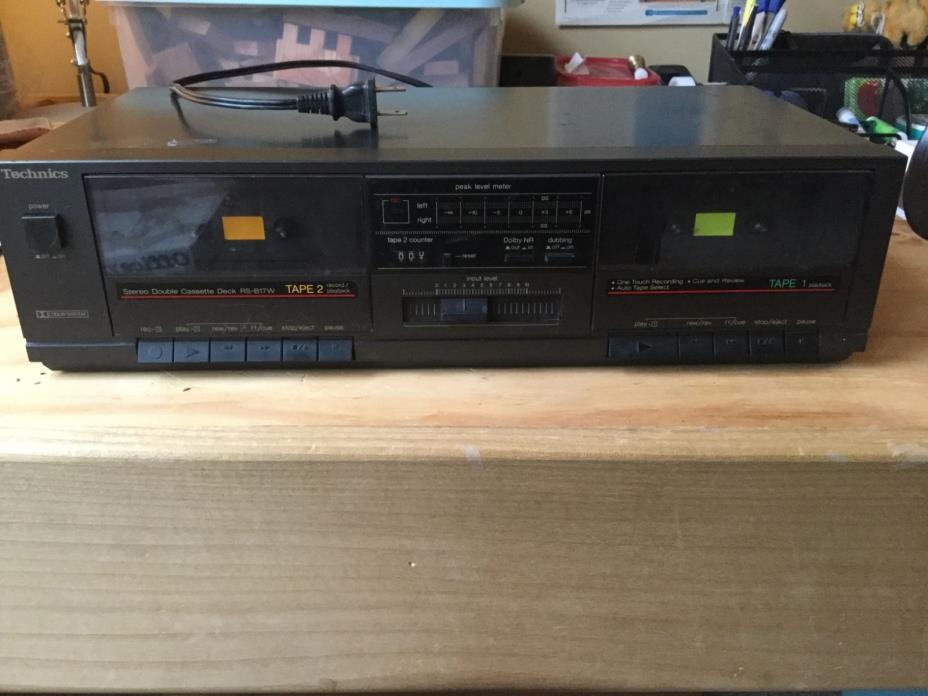 Vintage Technics Stereo Double Cassette Deck RS-B17W