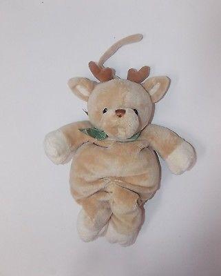 Gund Holiday Winter Cuddlers Rigley Reindeer Pullstring Musical Plush Crib Toy