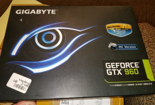 Gigabyte geforce gtx 960 sold as is condition