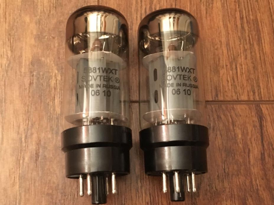 SOVTEK Factory Matched PAIR 5881 WXT Guitar  Amp Power Tubes