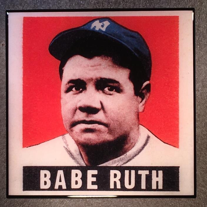 BABE RUTH Coaster Ceramic Tile Baseball Card