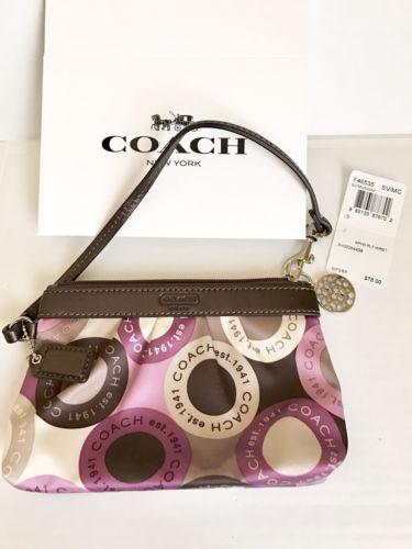 Coach OP Art Small Wristlet F46535