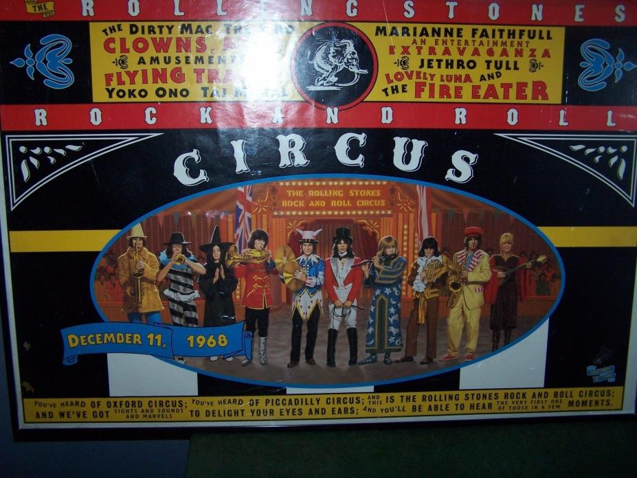 rolling stones  rock n roll circus poster