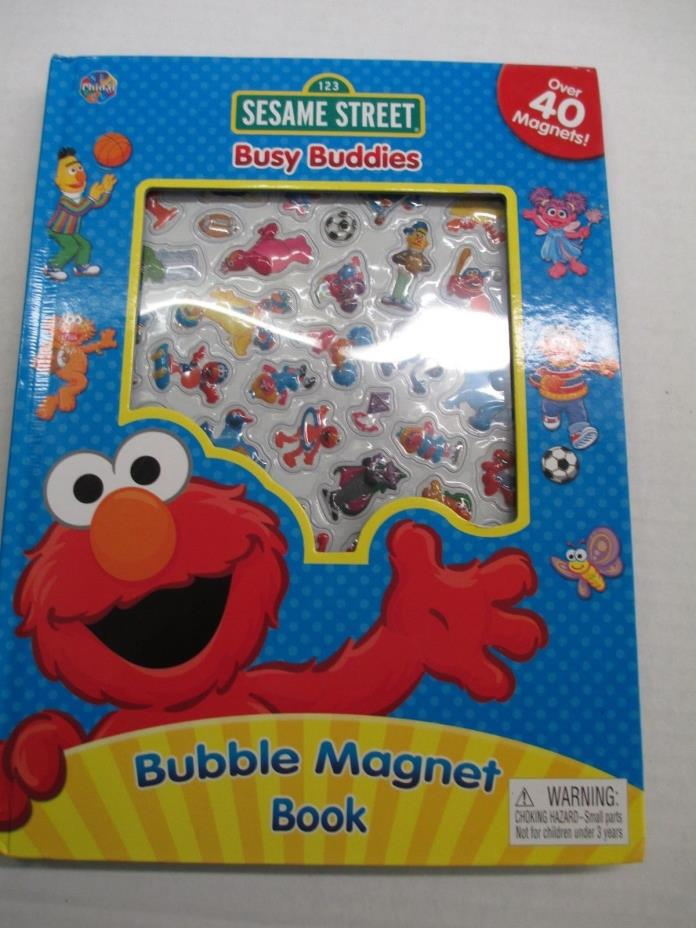 Sesame Street Busy Buddies Magnet Book Over 40 Magnets