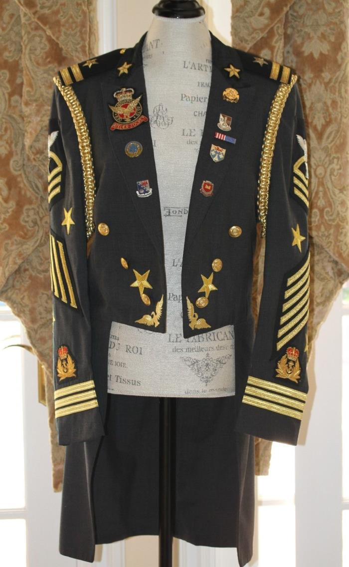 Michael Jackson Signed Military Jacket Performance Attire