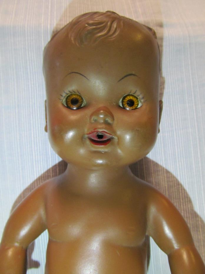 Vintage African American Male Infant Toy Doll