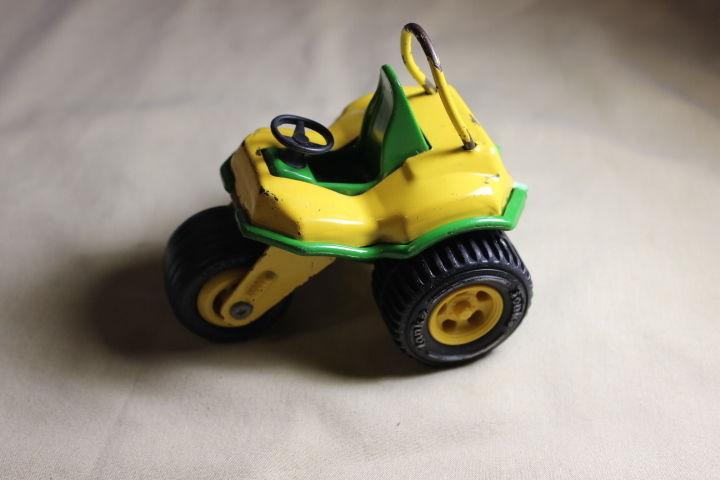 Tonka Toy 3 Wheeler Trike Tricycle ATV Off Road Green & Yellow Vintage