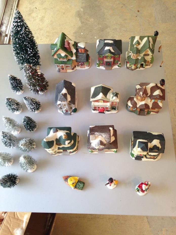 Holiday ceramic christmas village