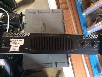 Behringer Europower EP1500 2X700 Watts Power Amplifier