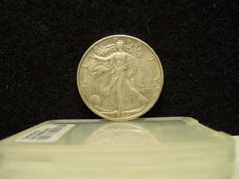* 1935 WALKING LIBERTY SILVER HALF DOLLAR