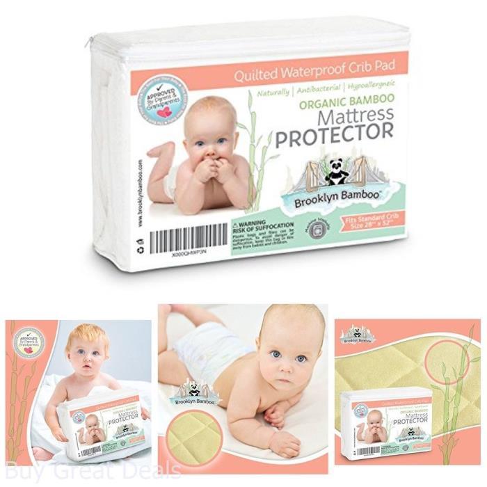 Extra Soft Mattress Protector Pad Crib Sheets Organic Bamboo Baby Bedding Gift