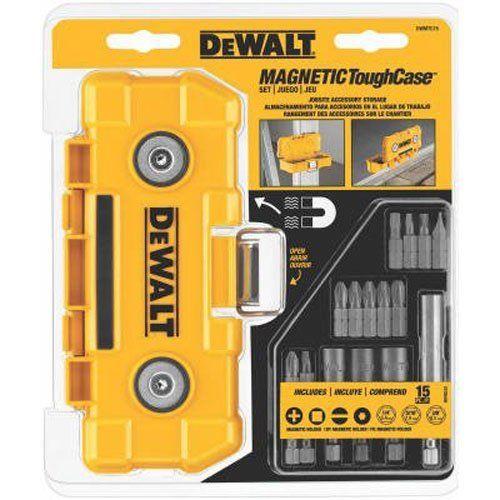 NEW DeWalt DWMTC15 Screwdriver Set W/Magnetic Tough Case 15 Piece