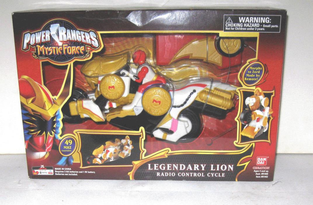 Power Rangers Mystic Force Legendary Lion Radio Control Cycle 49 mhz MIB New