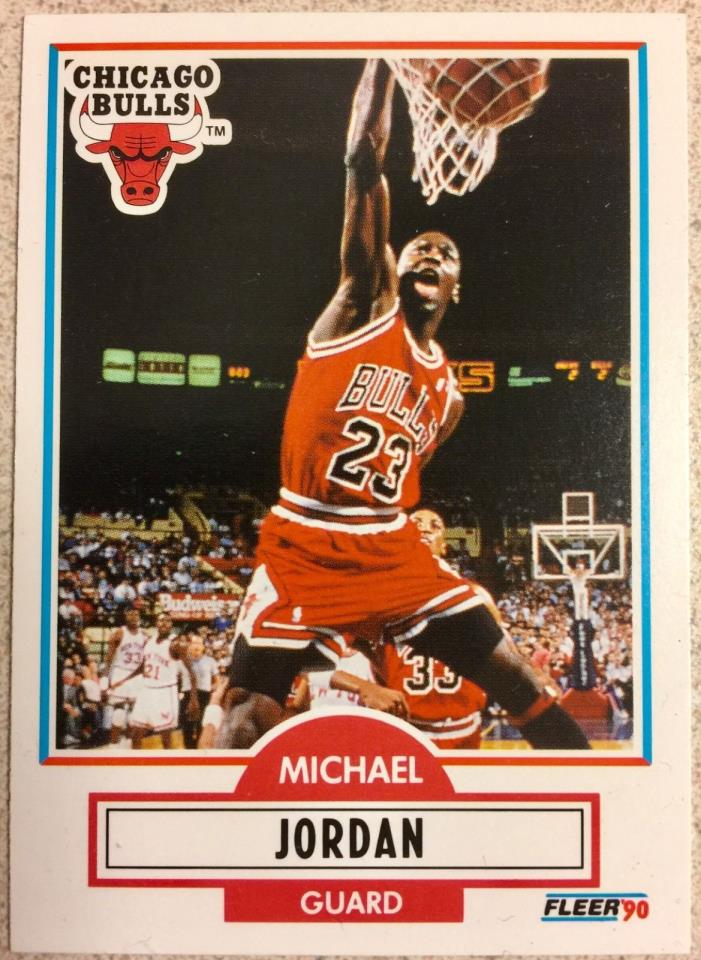1990 Fleer Michael Jordan 5 times MVP (2X Hall of Famer) Chicago Bulls Guard??