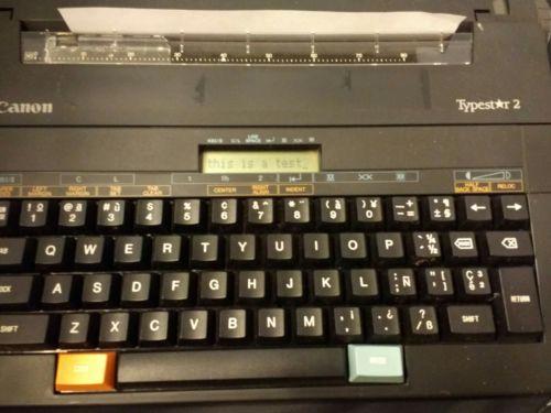 CANON TYPESTAR 2 ELECTRONIC TYPEWRITER