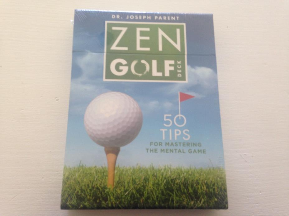 New Sealed Zen Golf Deck 50 Tips Dr. Joseph Parent Cards Guide