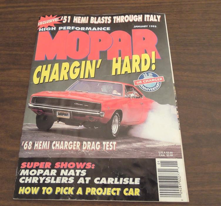 High Performance Mopar January 1993 magazine issue