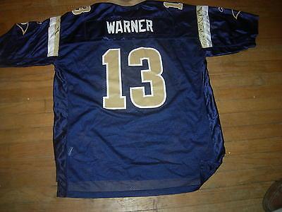 Kurt Warner St.Louis Rams Home Blue XL/2XL REEBOK NFL ON-FIELD Jersey,NWOT,AWSUM