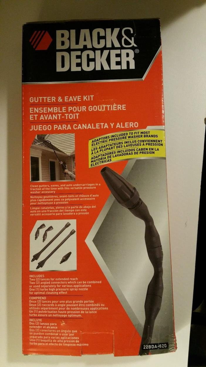 Black & Decker gutter and eave kit