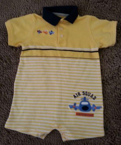 Carter's*Yellow Airplane Jon Jon*Toddler Baby Boy 24m*EUC