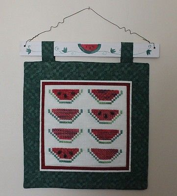 Cross Stitch Wall Hanging: Watermelon Slices