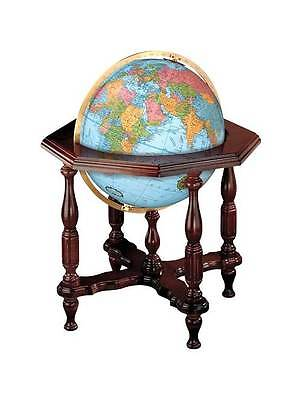 20 Inch Globe w Hand Cut Map & Illuminated Core [ID 3150]