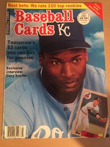 July 1987 Baseball Cards Magazine~~Bo Jackson