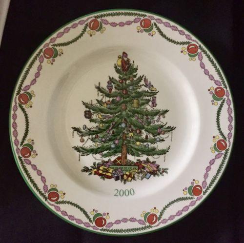 Spode Christmas Plate Christmas Tree Year 2000 England 8
